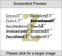 ZetronSansUT Family PC Product